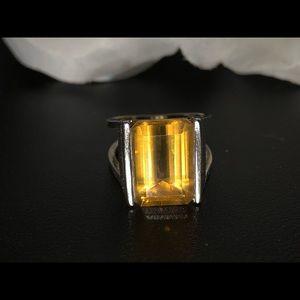 Jewelry - Sterling Brazilian Citrine Ring- 6